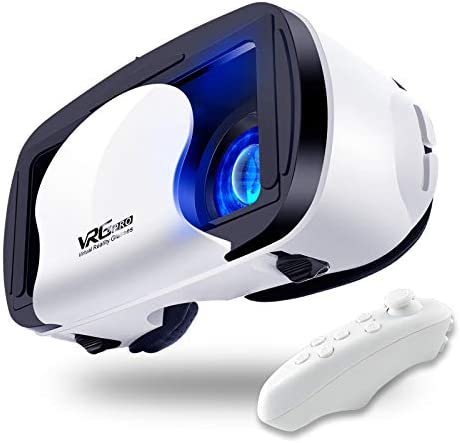 VR Headset Virtual Reality Glasses Compatible with iPhone Android New Goggles for Movies Compatible product image