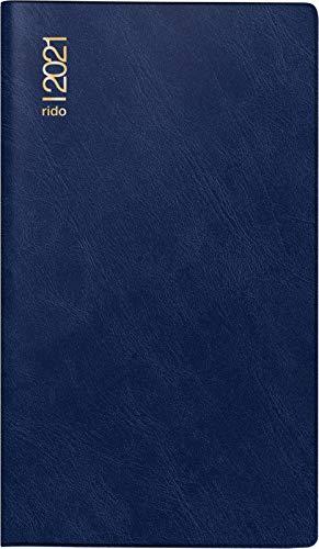 rido/idé 7045432381 Taschenkalender/Faltkalender Miniplaner d15, 2 Seiten = 1 Monat, 87 x 153 mm, Schaumfolien-Einband Catana dunkelblau, Kalendarium 2021