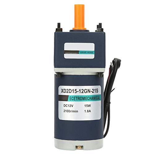 CENPEN Motor de engranaje DC12V, motor eléctrico de 15 W, 1800/2100 rpm, motor de torsión grande de metal eléctrico permanente (150 / 15 RPM)