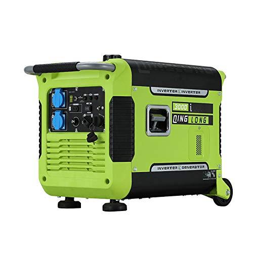 Generador Electrico Portatil Generador Para Camping Generador De Gasolina Ultra Silencioso Exterior Pequeño Inversor Digital-Convertidor De Frecuencia Digital Silencioso De 3Kw (Arranque Eléctrico)