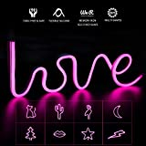 LED Strip Lights, A-1ux 3.28FT Shapeable Neon Signs LED Neon Light Strips Silicone Waterproof case, DIY Neon Art Decorative Lights Wall Decor for Bedroom/Wedding/Holiday/Party/Bar Decoration-(Pink)