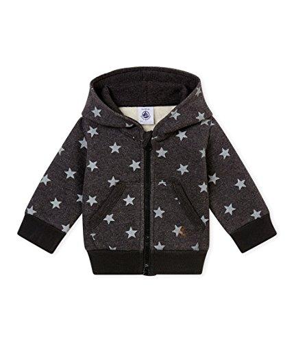 Petit Bateau SWEAT SHIRTS Sweat-shirt Bébé garçon Gris (City/Gris 01) 3-6 mois (Taille fabricant: 3M 3 MOIS)