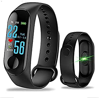 Eloquence Band M3 Bluetooth Fitness Smart Health Band/Smart Fitness Band with Call Whatsapp Alert Stop Watch Pedometer for...
