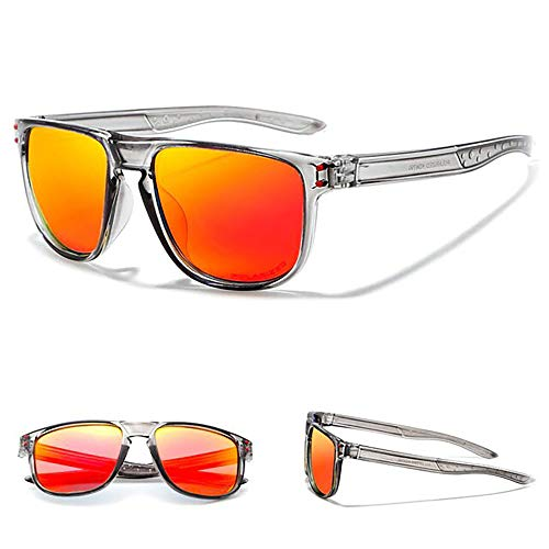 24 JOYAS Gafas de Sol Surf Sport Polarizadas con Funda y Gamuza para Mujer y Hombre (Naranja)
