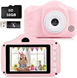 Kids Camera, 12MP Digital Camera for Kids Gifts, 3.5 Inch Large Screen 1080P Digital Video Camera for Kids with 32GB SD Card, SD Card Reader for 3-10 Year Old Children's Camera