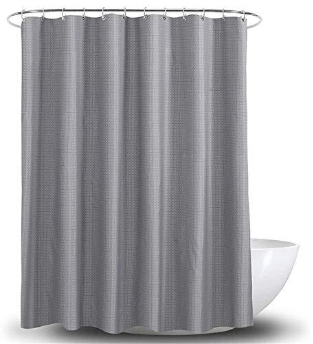 Gordijn Douchegordijn Waterproof Schimmelbestendig Polyester Shower Curtain Met Haken grijze kleur Lattice Patroon douche Liner for Badkamer (Grootte: 200 * 200) (Size : 200 * 180cm)