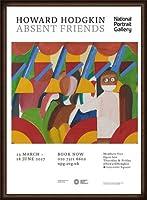ポスター ハワード ホジキン Absent Friends The Tilsons Exhibition 額装品 ウッドハイグレードフレーム(オーク)