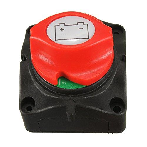 Interruptor seccionador «on/off» NUZAMAS con diseño extraíble para batería de coche, barcos...