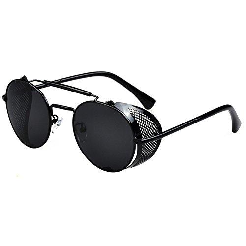 Botetrade Vintage Round Brille Sonnenbrille Steampunk Cyber Goggles C1