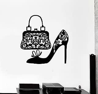 V-studios Wall Decal Shoes Women Handbag Fashion Shopping Vinyl Stickers VS2932