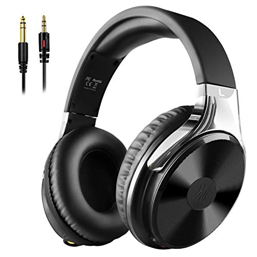 OneOdio Closed-Back Over Ear Headphones with 50mm Drivers Adapter Free Studio Hi-Fi Precision Full Coverage Earmuffs Noise Isolating Stereo Wired for PC Smartphones IPad Guitar amp Drum