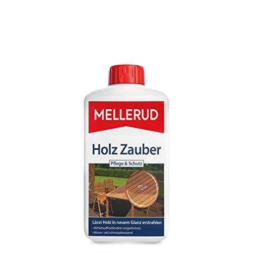Mellerud 2001010546 Holz Zauber Pflege & Schutz Produit Puissant pour Tous Les Bois abîmés et décolorés en intérieur et en extérieur, 1 x 1 l