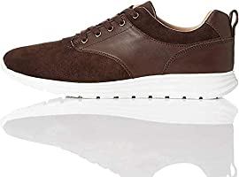 Marque Amazon - find. Perforated Suede Hybrid, Sneakers Basses homme