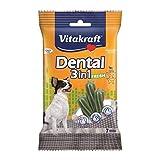 Vitakraft Dental 3in1 Fresh - Zahnpflege-Snack für Hunde bis 5 kg - 7 Sticks