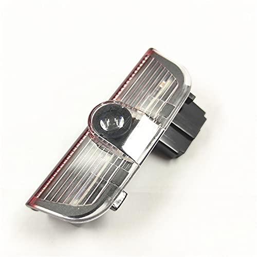 Luz de bienvenida a la puerta Luz de advertencia de la puerta del coche rojo LED con la insignia de logotipo Lámpara de señal interior para golf 5 6 Golf MK6 MK5 Passat B6 B7 Tiguan 3AD 947 411 Luz de