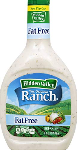 Hidden Valley Original Ranch Fat Free Salad Dressing & Topping, Gluten Free - 24 Ounce Bottle (Package May Vary)
