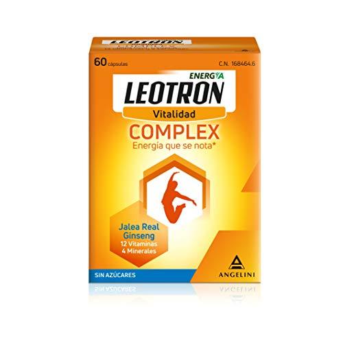 LEOTRON Complex - 60 cápsulas - Energía que se nota - Complemento alimenticio con Jalea Real, Ginseng, 12 vitaminas y 4 minerales - Envase para 60 días, a partir de 12 años.