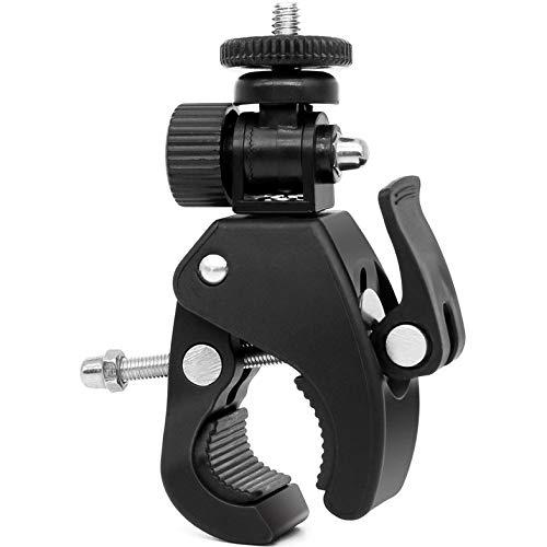 Cámara Súper Abrazadera Abrazadera de Tubo de liberación rápida Abrazadera de Bicicleta Cabeza de trípode para Accesorios de videocámara con Monitor de cámara Ligera - Negro
