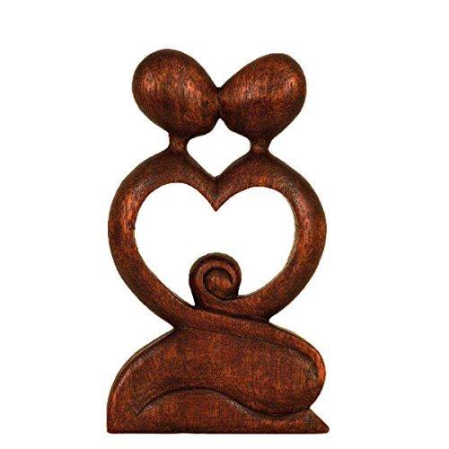 Simandra Holz Figur Skulptur Abstrakt Holzfigur Statue Afrika Asia Handarbeit Deko Liebe Größe 40 cm