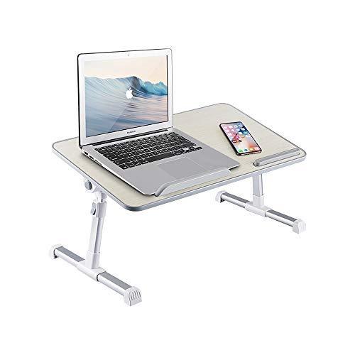 Bandeja de escritorio para computadora portátil, altura y ángulo, ajustable, escritorio de pie con patas plegables para leer y escribir en cama, sofá, sofá o piso