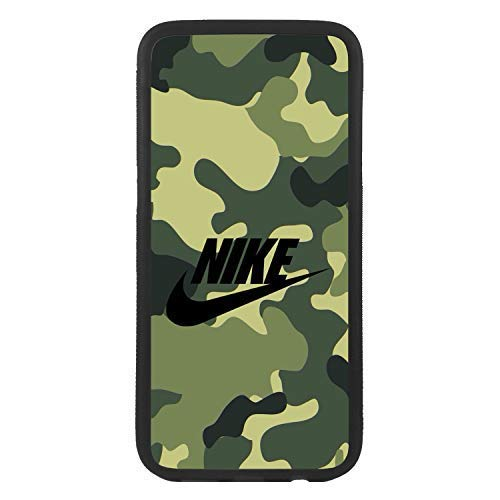 custom-cases Funda Carcasa de TPU para movil con diseño de Nike Fondo Camuflaje Logo Compatible con Samsung J6 (2018)