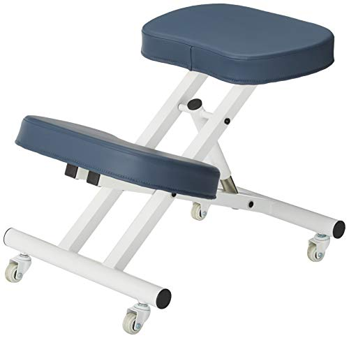 Master Massage Ergonomic Steel Kneeling Chair Prefect for Home, Office & Meditation (Royblue), 19.8 Pounds