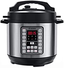 MOOSOO 14-in-1 Electric Pressure Cooker, 8 Quart Instant Pressure Pot with LED Display, Thickened Stainless Steel Rice Cooker, Steamer, Yogurt Maker, Egg Maker for Family Use