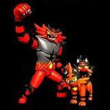 Mipojs 3 Pezzi Takara Tomy Litten Torracat Incineroar Action Figure Giocattoli Anime Litten Evolution Pokemones Figure Giocattoli Regali per Bambini
