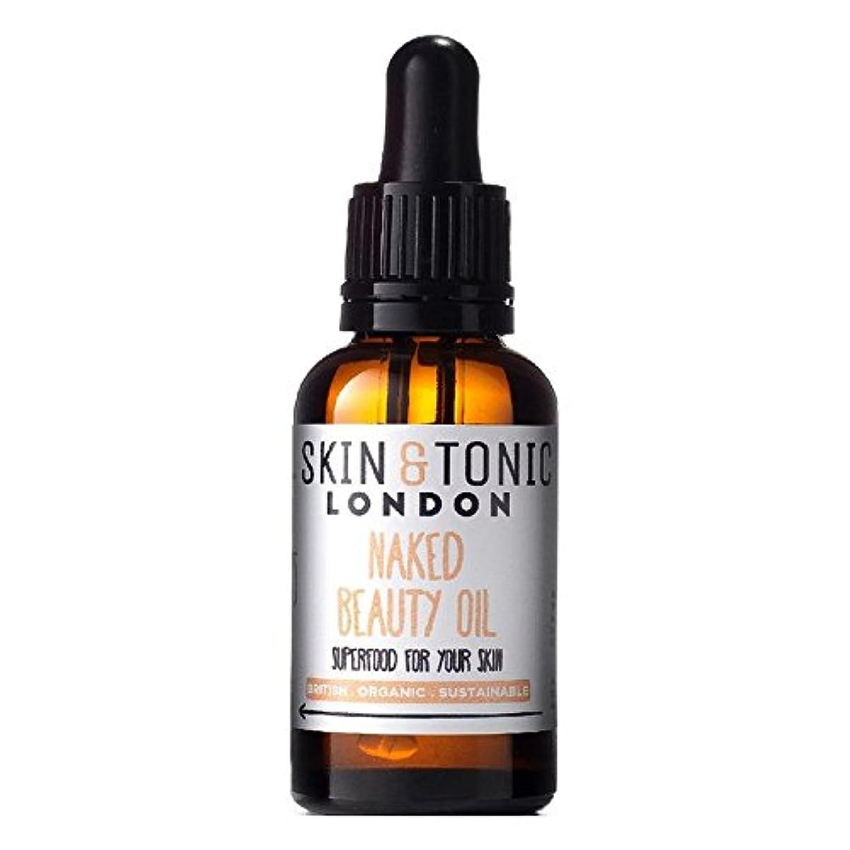 イサカ幻想多年生スキン&トニックロンドン裸の美容オイル30ミリリットル x4 - Skin & Tonic London Naked Beauty Oil 30ml (Pack of 4) [並行輸入品]