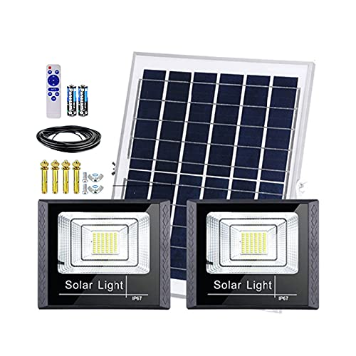 Foco Solar Exterior Potente Cuentas De Lámpara 170-1830LED,Luces Solares De Inundación Control De Luz Inteligente + Control Remoto Lamparas Solares Exterior Impermeable(Size:230 lamp beads)