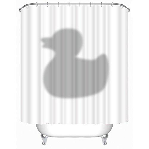 GYMNLJY Ente Projektion Druck Duschvorhang Polyester wasserdicht Bad abgeschnitten hängenden Vorhang 180 * 180cm , 180*180cm