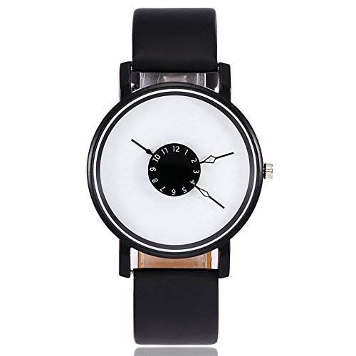 Förderung, Mode Damen Uhren, Frauen Mädchen Ultradünne Elegant Armbanduhren Minimalistisches Analog Quarz mit Leder Armband Watch LEEDY