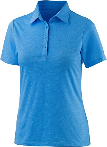 Schöffel Damen Polo Shirt Capri, Bonnie Blue, 40