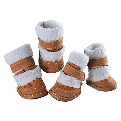 Pet Dog Puppy Sportieve Schoenen Laarzen Winter Warm Pluche Sneaker Schoenen Hond Kleding, M, Grijs