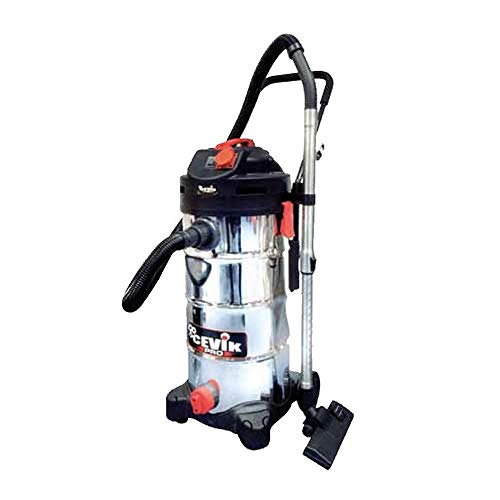 cevik ce-pro50 X T – Vacuum Cleaner Industrial Electric. 1400 W. 50 lt. Container Stainless Steel. Accessories Included. Tele comandado