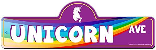 Unicorn Over item handling Street Sign Indoor Outdoor Decor Home Funny Dealing full price reduction for Gara