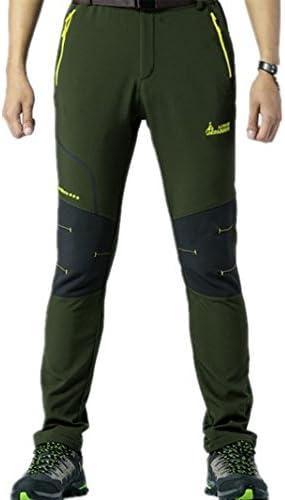 Alamor Pour des hommes de plein air élastique Pantalon Décontracté Imperméable à l'eau Chaude Soft Shell Amoureux Assault Pants-Vert-S