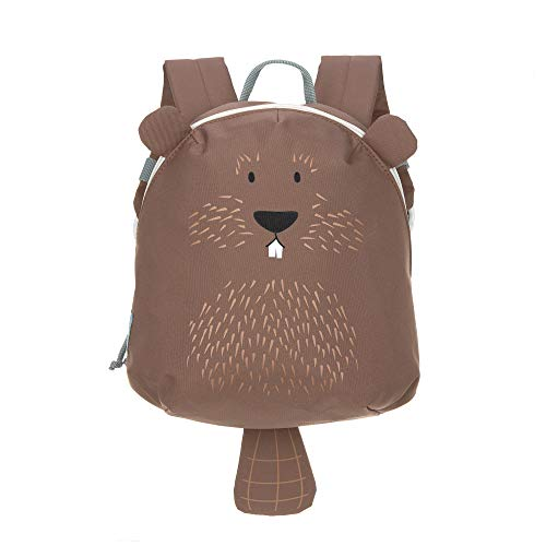 LÄSSIG Kinderrucksack für Kita Kindertasche Krippenrucksack mit Brustgurt/Tiny Backpack, About Friends Beaver, 24 cm, 3,3 L