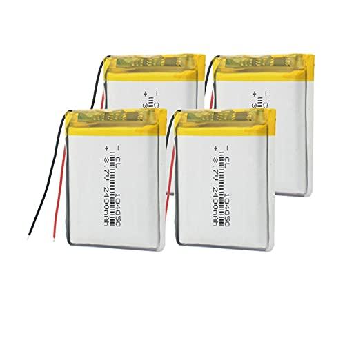 Batería Li Ion del PolíMero De 3.7v 2400mah 104050, Recargable para La Radio GPS del Banco del Poder De La LáMpara Solar 4pieces