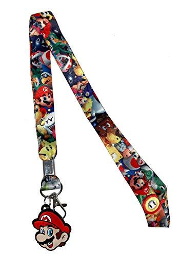 Super Mario Bros Mario Head Lanyard