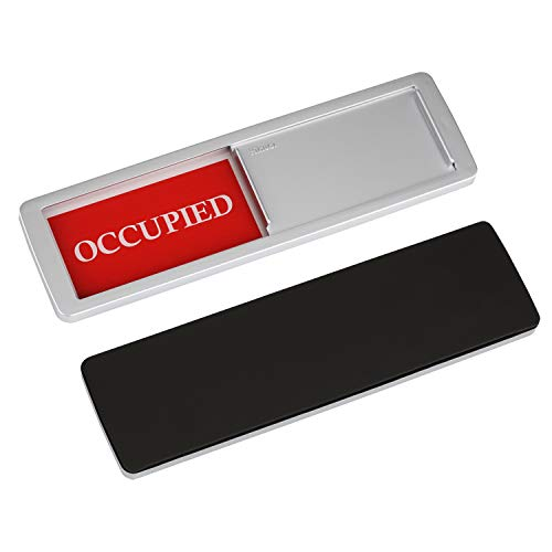 """Occupied Vacant Sign, Yarkor Door Signs Privacy Sign for Office, Conference / Meeting Room, Bathroom, Hotel, Restroom, Classroom - Magnetic and Double-Sided Tape Option, 7"""" x 2"""" Slider Indicator"""