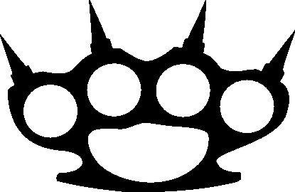 NetSpares 120054003 1 x 2 Plott Aufkleber Schlagring Mit Stacheln Spitz Sticker Shocker Tuning Fun