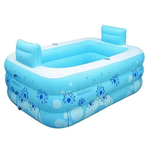 Wxt Pliant Baignoire Piscine Type de Deux Couches Facile à Nettoyer Un Seul Enfant Gonflable Pool Mobile Petit Appartement Bath Barrel