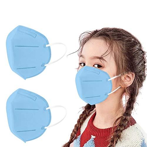 Cinco Capas Tela para Adultos Proteccion Contaminacion Trabajo Ciclismo Gimnasio Colores Azul (10 Piezas)