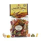 Brezzo Pasta de Trigo Duro con Forma de Monumentos Italianos | Pack de 12 x 250 Gramos