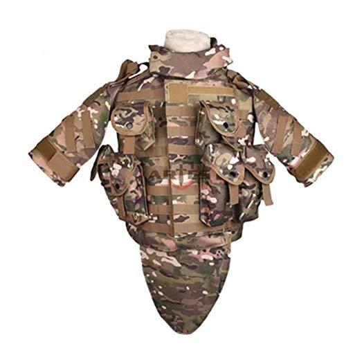 ZWL Taktische Weste, schwere Rüstung mit Armeelüfter-Schutz ausgestattet, geeignet für Ei Cosplay Jagd Live CS Spiel,2