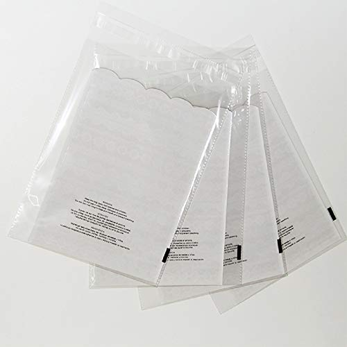 100 11x14 Suffocation Warning Self Seal Flap Tape Clear Poly Bags Cello Cellophane Polypropylene OPP Bags 1.5 Mil By ValueMailers