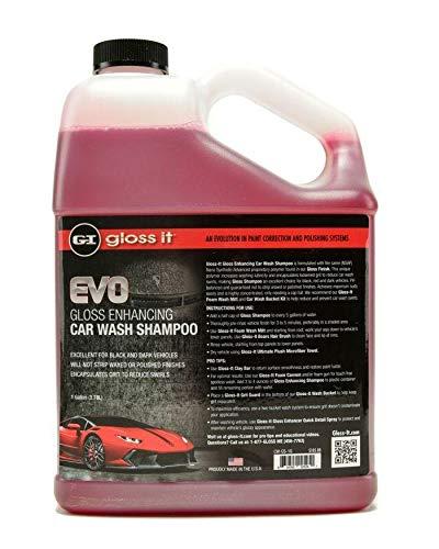 Gloss Enhancing Car Wash Shampoo | Car Detailing Car Wash Soap | Use Foam Cannon Foam Gun 5 Gallon Bucket Pressure Washer Sponge Mop Mitt Brush | Safe On Car Wax & Ceramic Coating (1Gal)