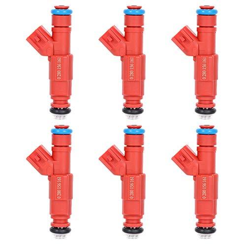 Aintier 12 Holes 6 pcs Fuel Injectors Set 0280156161 fit for 00-03 for Dodge for Dakota 02-03 for Dodge for Ram 1500 00-03 for Dodge for Ram 1500 Van 01 for Dodge for Ram 2500 Van