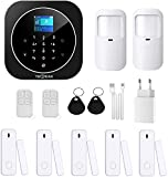 TecPeak Kit d'alarme pour maison sans fil, Wi-Fi/GSM avec sirène de sécurité fournit un moyen très efficace pour protéger votre maison et votre bureau (A1 Noir)